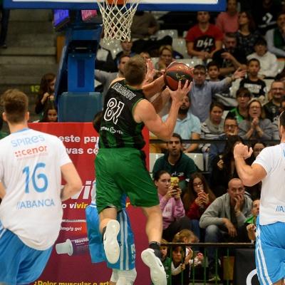 Luke Harangody contra el Monbus Obradoiro / Foto: David Grau