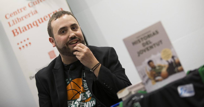 Santi Escribano, durant la presentació de