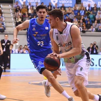 Luke Harangody contra el San Pablo Burgos / Foto: David Grau
