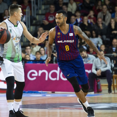 Neno Dimitrijevic contra el Barça Lassa / ACB Photo: V. Salgado