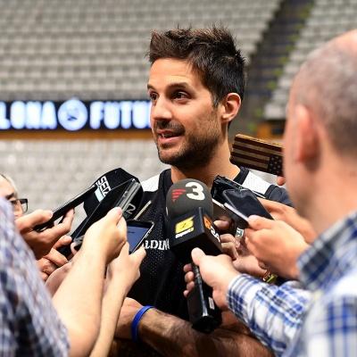 Nico Laprovittola, durant el media day previ al playoff / Foto: David Grau