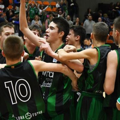 L'Infantil A celebra la classificació per a la fase final de la Minicopa / ACB Photo - J.M. Casares