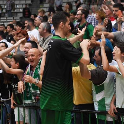 Els jugadors del Divina Seguros Joventut s'acomiadaran demà de l'afició / Foto: David Grau