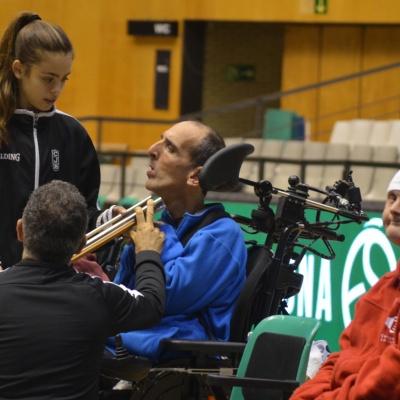 Práctica del boccia durante la temporada pasada / Foto: David Grau