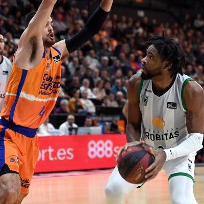 Perrin Buford, contra el Valencia Basket / Foto: David Grau
