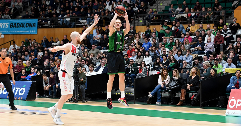 Klemen Prepelic, un dels protagonistes del partit contra el RETAbet Bilbao Basket / Foto: David Grau