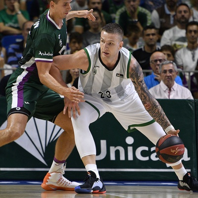 Alen Omic contra l'Unicaja / ACB Photo: G. Pozo