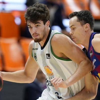 Pep Busquets, en una acció durant la Fase Final de la Lliga Endesa / ACB Photo
