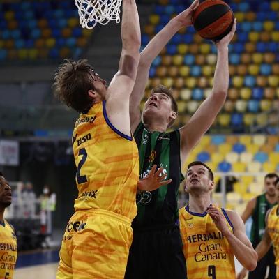 Simon Birgander, en una acción de juego / ACB Photo: M. Henríquez