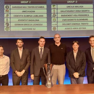 El president Juan Antonio Morales, amb els representants dels nostres rivals a Europa