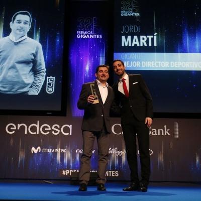 Jordi Martí, en la gala de Gigantes del Basket / Photo Gigantes del Basket