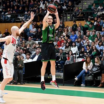 Klemen Prepelic, uno de los protagonistas del partido contra el RETAbet Bilbao Basket / Foto: David Grau