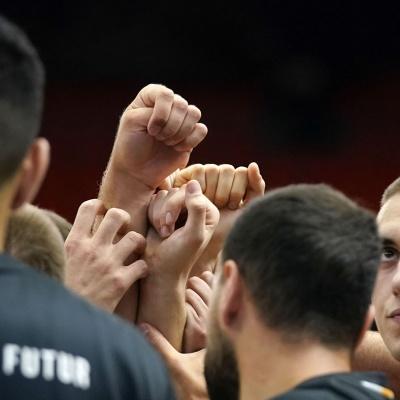 Pinya de l'equip verd-i-negre / ACB Photo