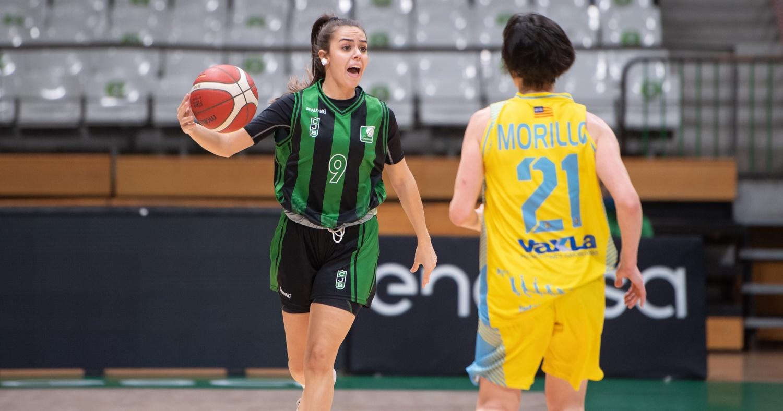 María González, en una acció de joc