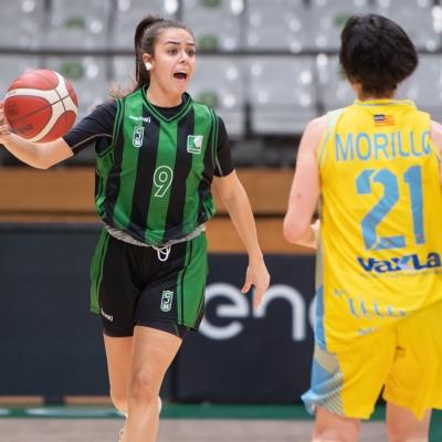 María González, en una acción de juego
