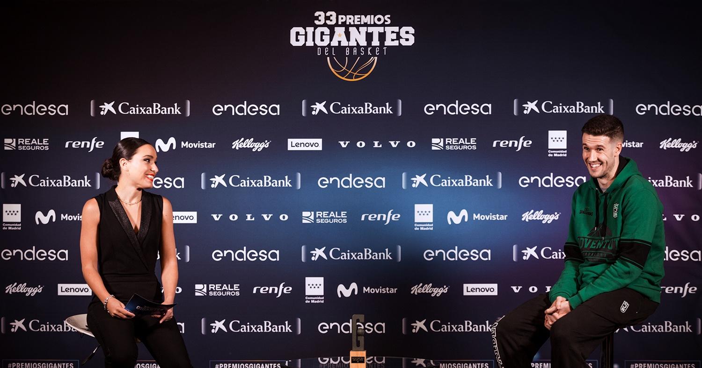 Xabi López-Arostegui, durant la gala de Gigantes del Basket